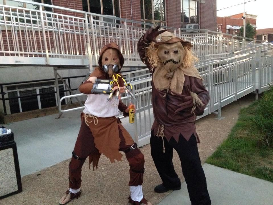 Me as classic Scarecrow with Arkham City Scarecrow