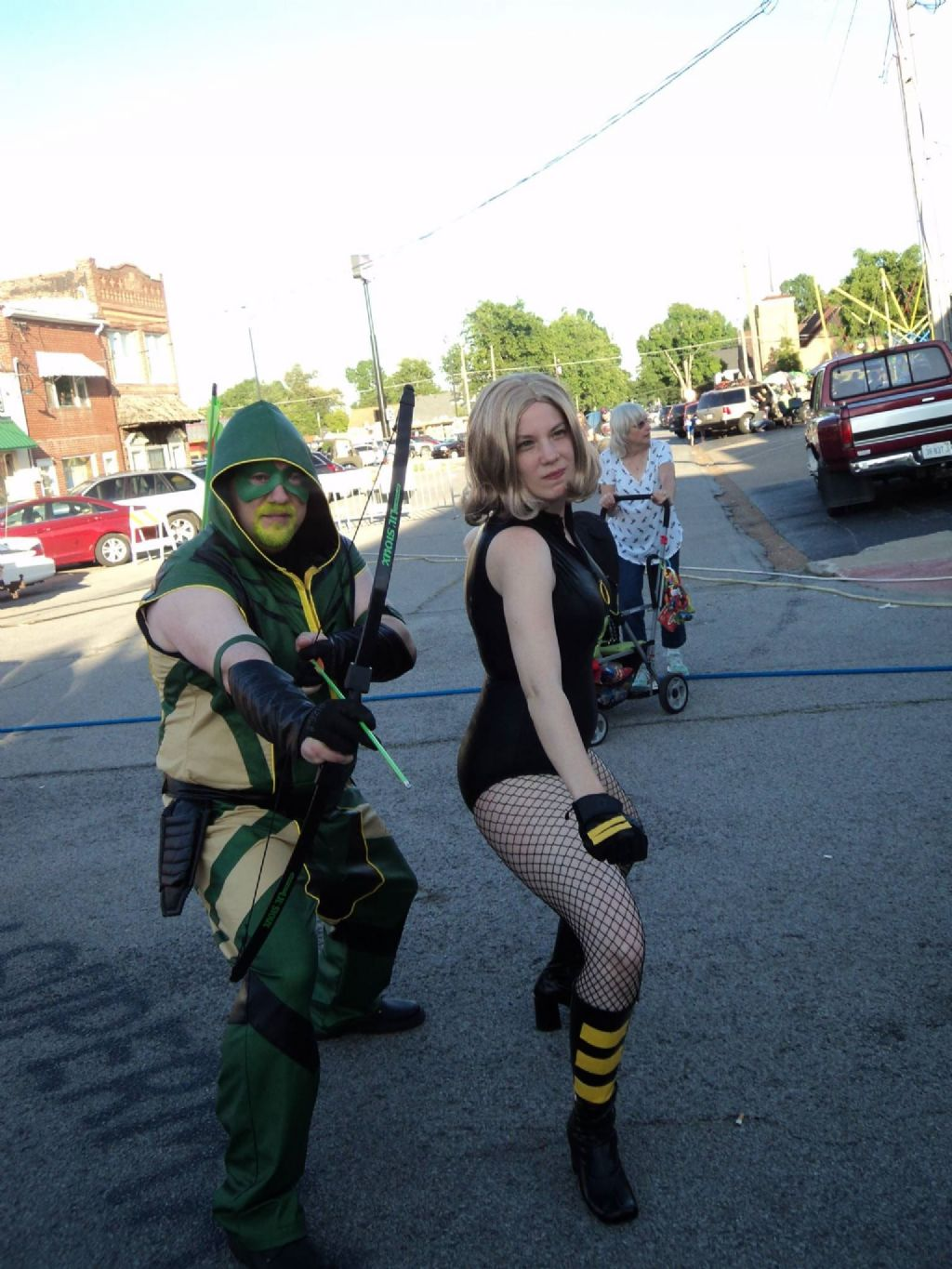 Green Arrow (Me) with Black Canary